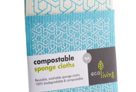 Compostable Sponge Cleaning Cloths - Moroccan (4 pack)