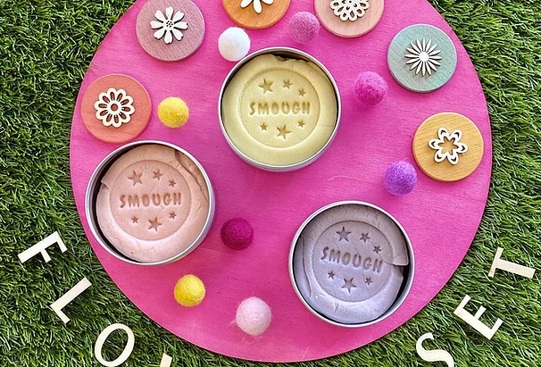 Smough - scented play dough Flower Set
