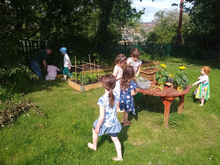 Perfect weather for gardening club