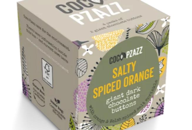 Giant Buttons - Salty Spiced Orange Dark Chocolate