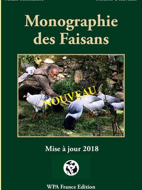 Parution récente : la mise à jour 2018 de la Monographie des Faisans