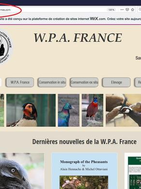 Changement du nom de domaine du site de la WPA France