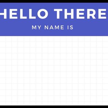 Hi, My Name Is...