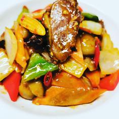 Roast duck Szechuan style