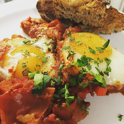 Delicious Shakshuka on our specials board today..
