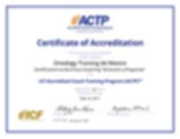 Certificado ACTP ontology trainig