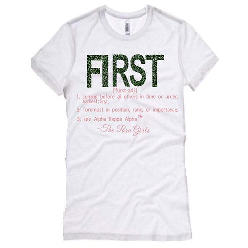 FIRST T-shirt