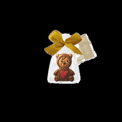Schokoladefigur Bär mit Herz