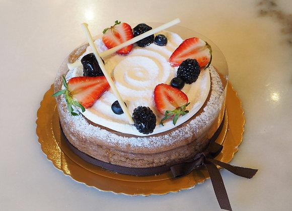 Fruit Chocolate Cheesecake