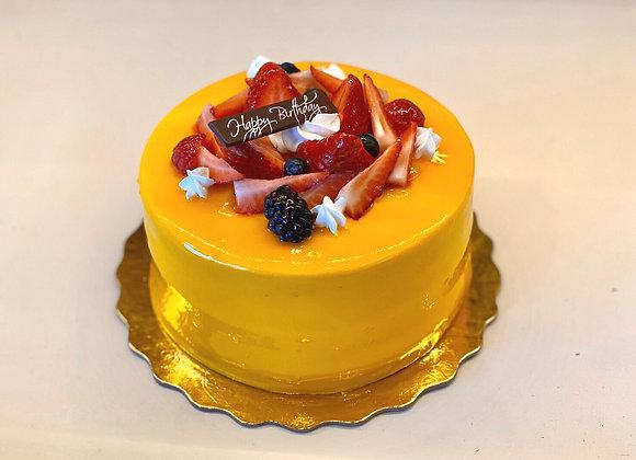 Double Mango Mousse Cake 雙層芒果慕斯蛋糕