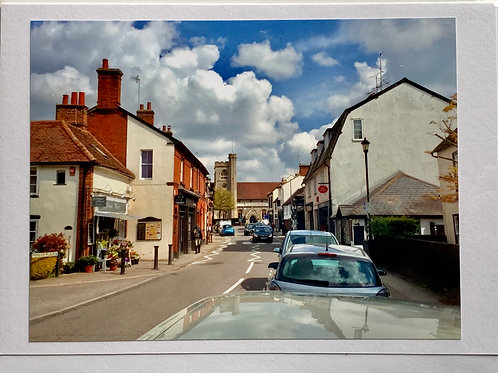 Welwyn - High Street towards St. Mary's from the Florist