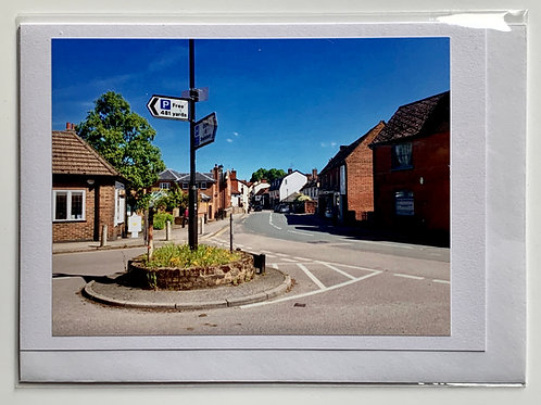 Welwyn - View of High Street from School Lane
