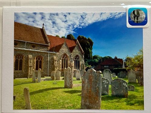 Welwyn - St. Mary's Churchyard towards Old Church House