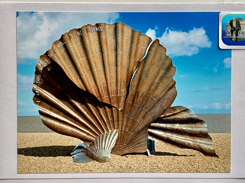 Aldeburgh - The Scallop Shell on the Beach