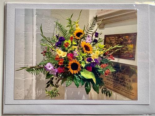 Flowers - Church arrangement with Sunflowers