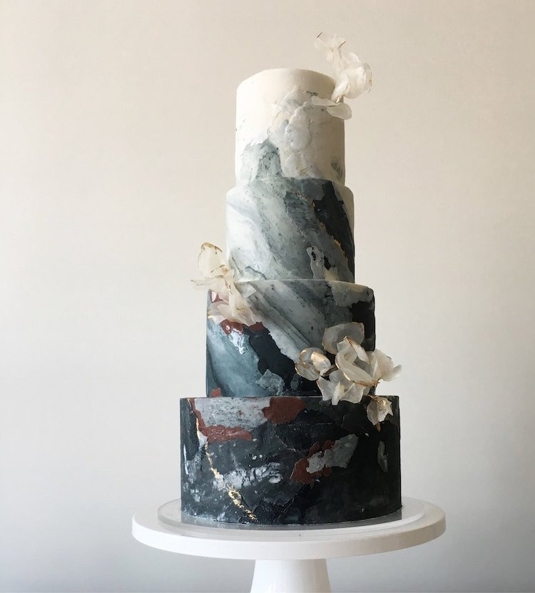 Wedding cakes in Buckinghamshire, Black Wedding Cakes, Modern Wedding Cakes