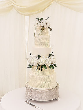 5 Tier Buttercream Wedding Cake with Sug