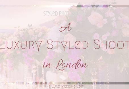 Luxury Styled Wedding Shoot in London