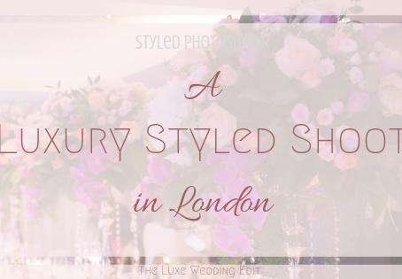 Luxury Styled Wedding Shoot in London