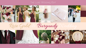 Wedding Styling - Rose Gold & Burgundy