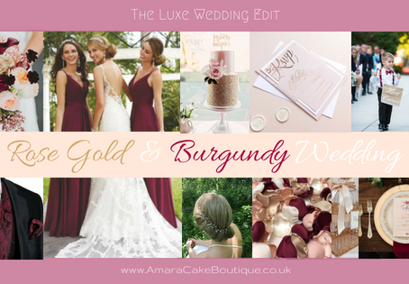 Wedding Styling - Rose Gold & Burgundy