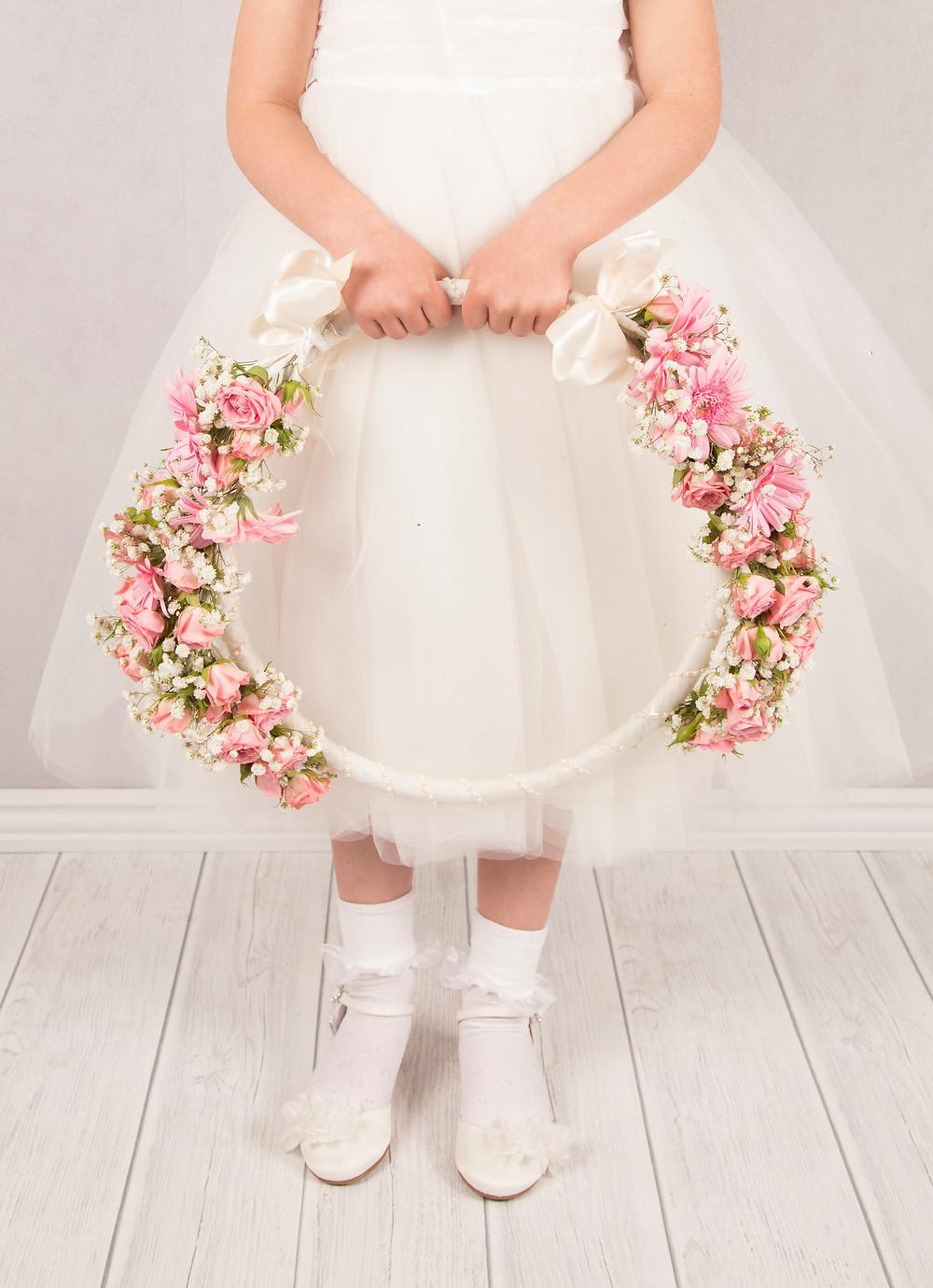 Flower Girl floral hoop, weddings