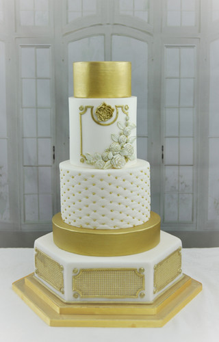 Modern Baroque Wedding Cake