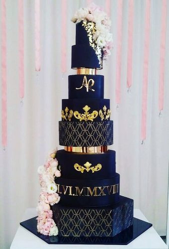 Wedding cakes in Leighton Buzzard, Black Wedding Cakes, Luxury Wedding Cakes, Modern Wedding Cakes