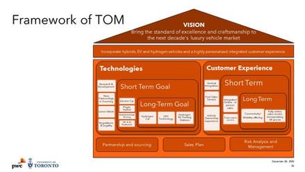 Framework of the Target Operating Model Developed
