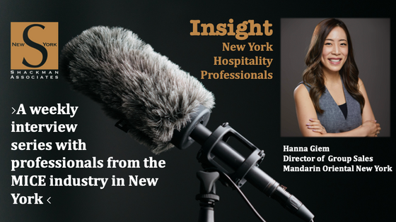 Insight; New York Hospitality Professionals - This Week: Hanna Giem