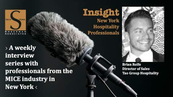 Insight; New York Hospitality Professionals - This Week: Brian Rolfe