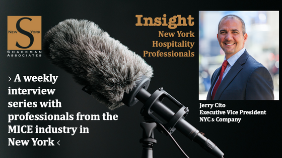 Insight; New York Hospitality Professionals - This Week: Jerry Cito