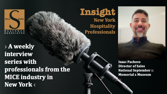 Insight; New York Hospitality Professionals - This Week: Isaac Pacheco