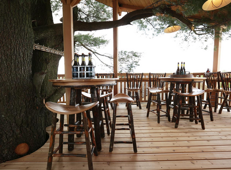 Corporate Retreats and Tastings: Meet in a Treehouse