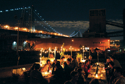 Corporate Retreats and Executive Dinners UNDER the Williamsburg Bridge