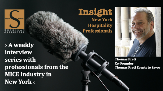 Insight; New York Hospitality Professionals - This Week: Thomas Preti