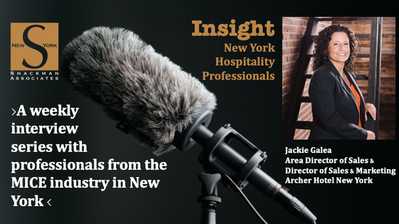 Insight; New York Hospitality Professionals - This Week: Jackie Galea