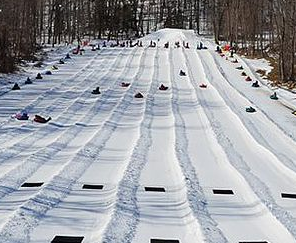 SNOW TUBE RACING FOR OFF-HOURS FUN AND TEAM-BUILDING