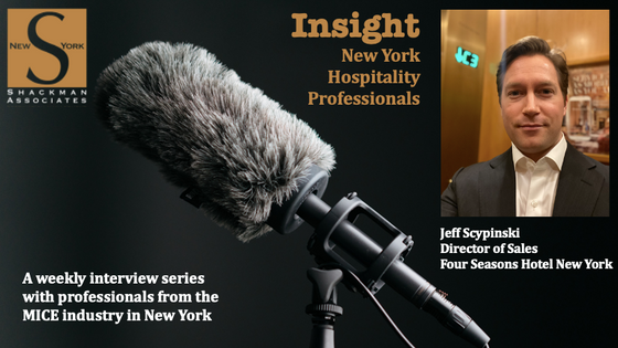 Insight; New York Hospitality Professionals - This Week: Jeff Scypinski -