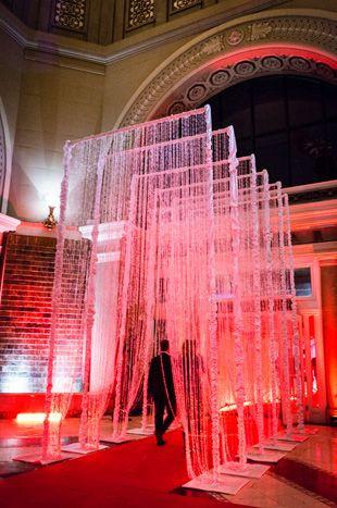 Event Decor: Crystallize Gala Red Carpet Entrances