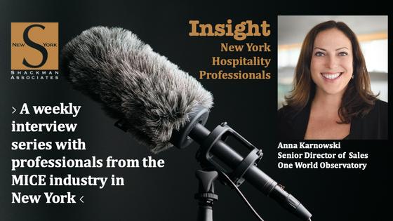 Insight; New York Hospitality Professionals - This Week: Anna Karnowski