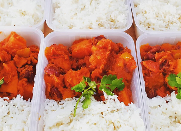 Sweet Potato Chilli with rice