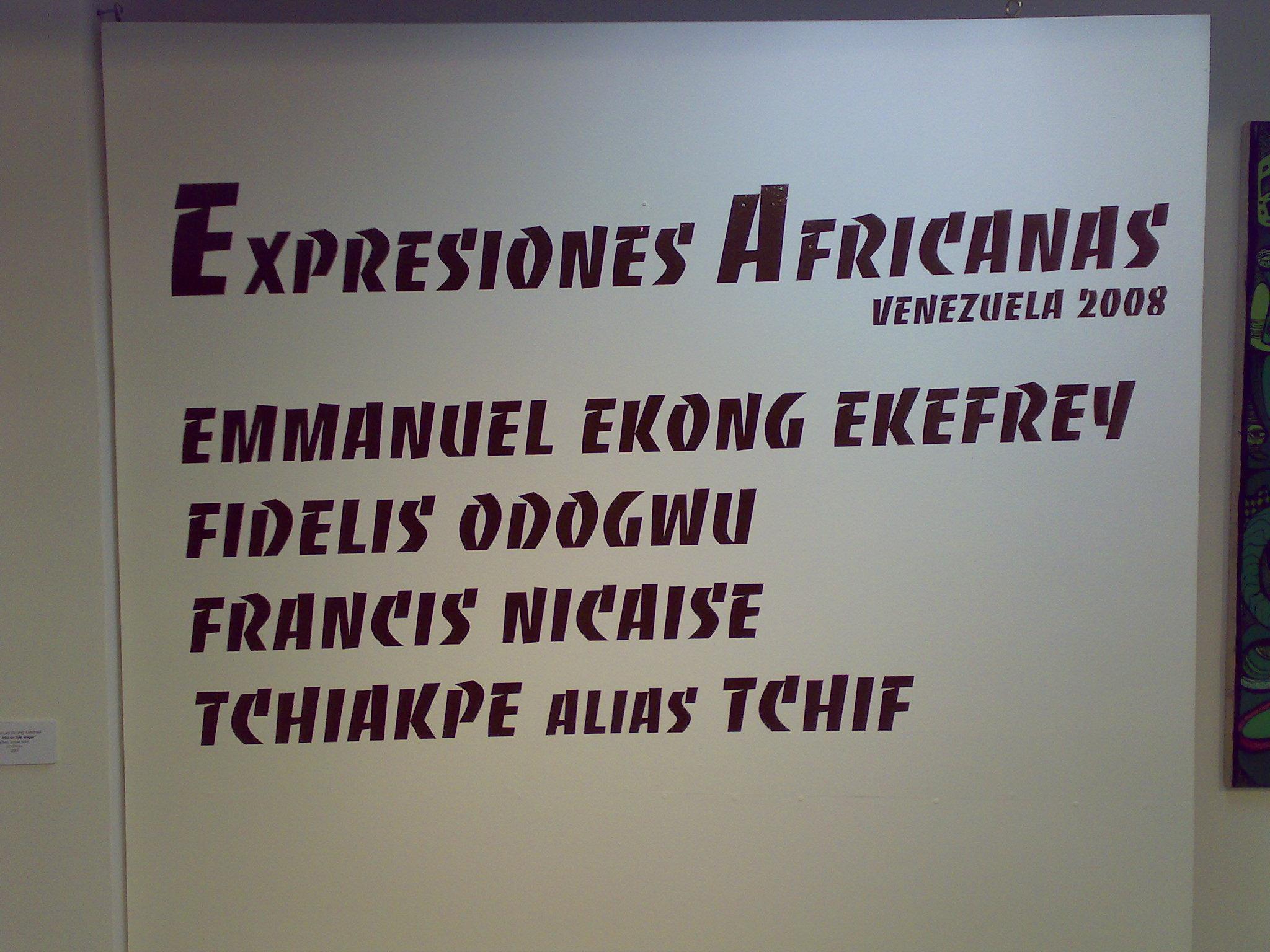 Exposicion Expresiones Africanas