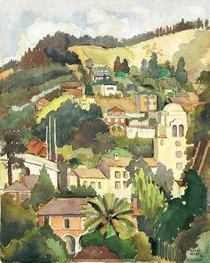 Early Berkeley California Watercolor