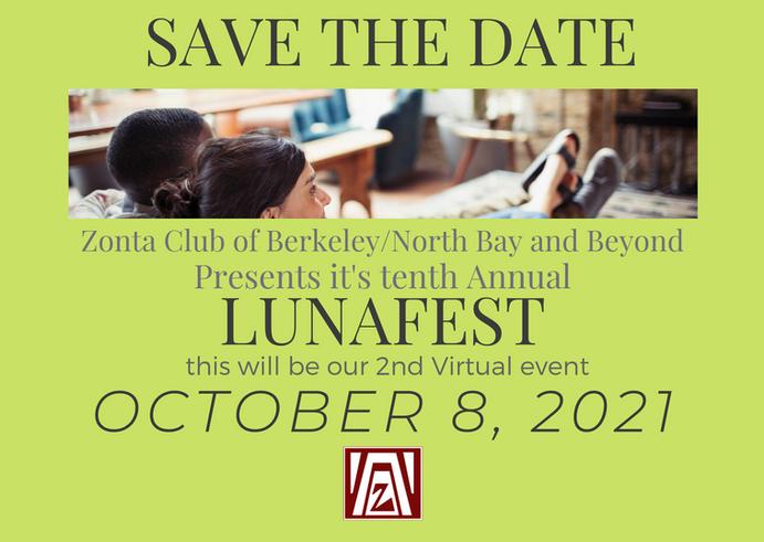 LUNAFEST Save the Date October 8, 2021