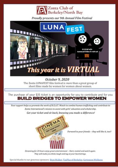 Zonta LUNAFEST October 9, 2020