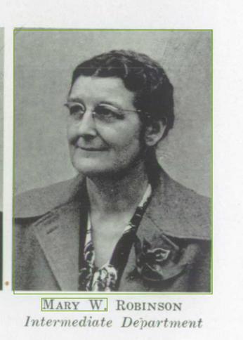 Mary W. Robinson