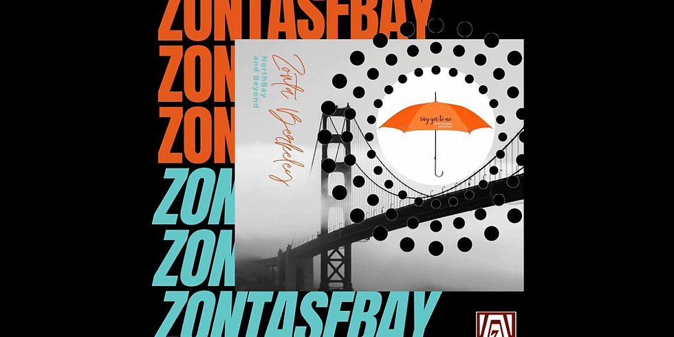 Walk Across Golden Gate Bridge with Orange Zonta Umbrellas