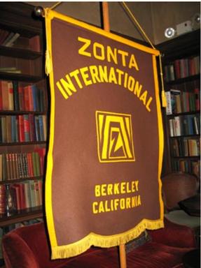 Zonta berkeley flag in library