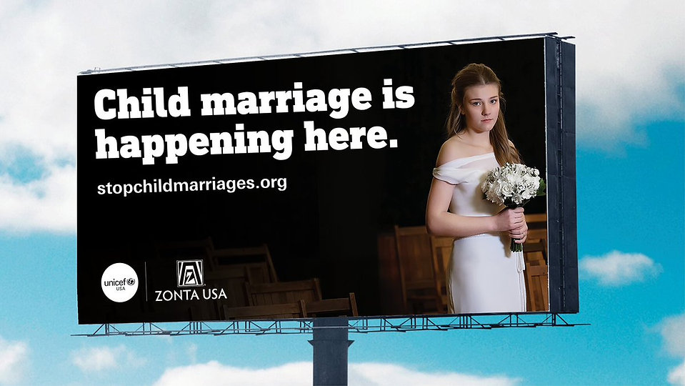 End Child Marriage Billboard